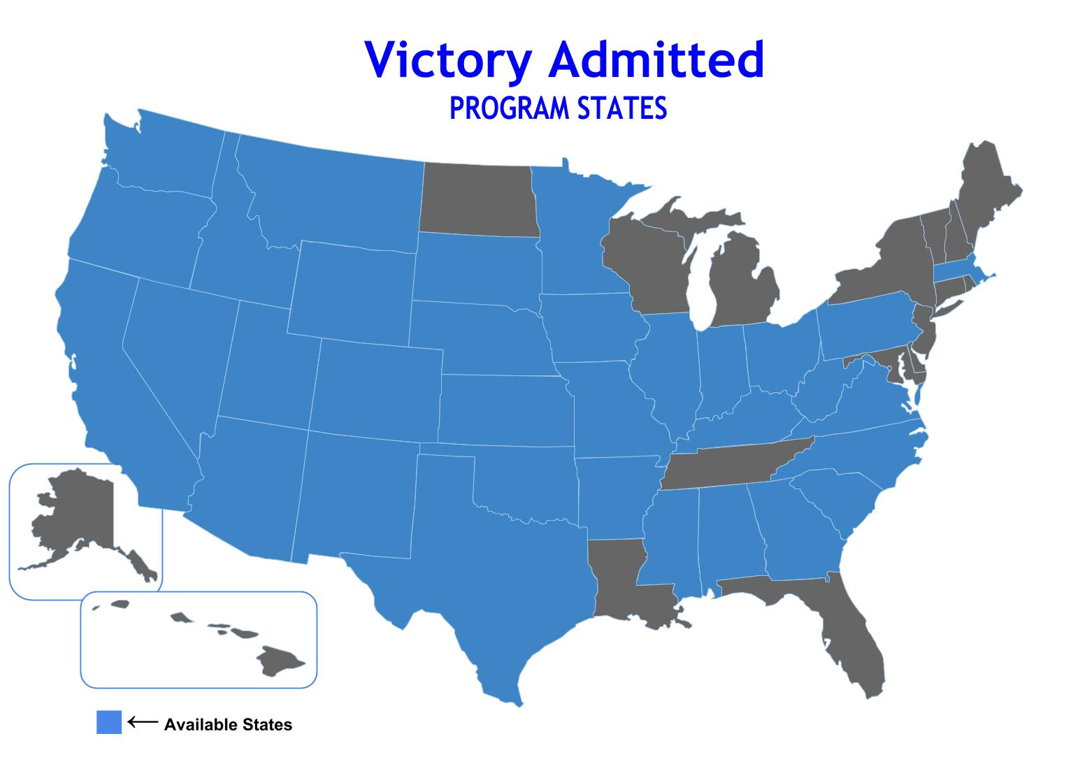 Compare AMTrust Victory Admitted Program Map