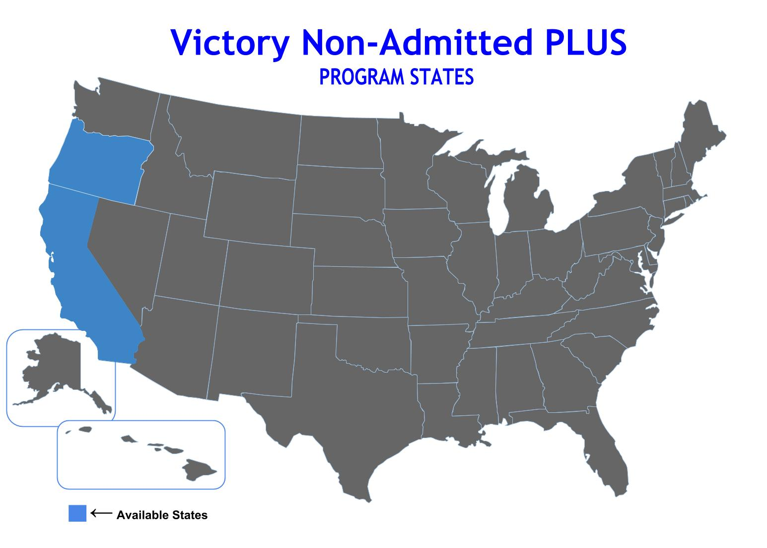 Compare Non-Admitted Plus Program Map